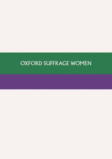 oxford suffrage women cover