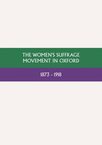 the womens suffrage movement in oxford cover